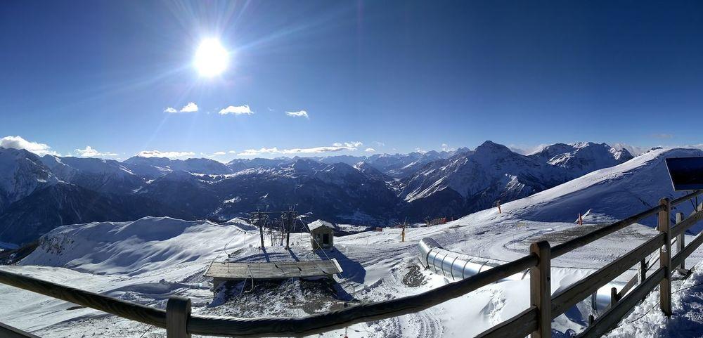 Sestriere Snow Amazing View Sun Mountains Ski