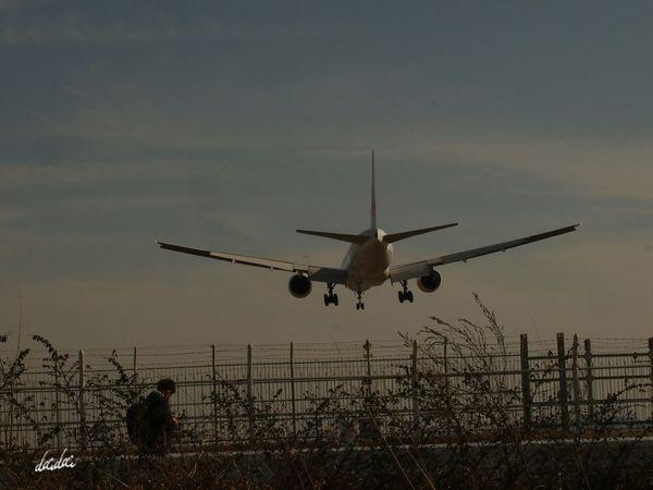 ただいまを待ちわびて E-PL3 Sky And Couds Sky Airplane Noedit