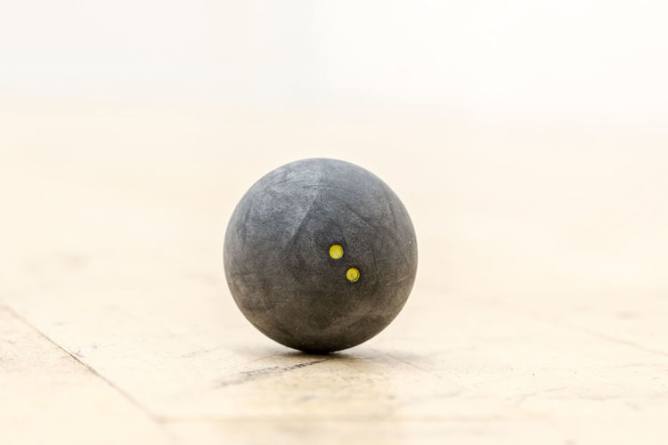Ball Close-up Ground Having Fun Health Indoors  Movement Rubber Ball Sport Squash Squash - Sport Squash Ball Two Dots