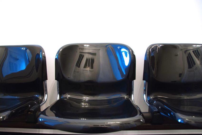 Plastic Chair Reflection Waitingroom