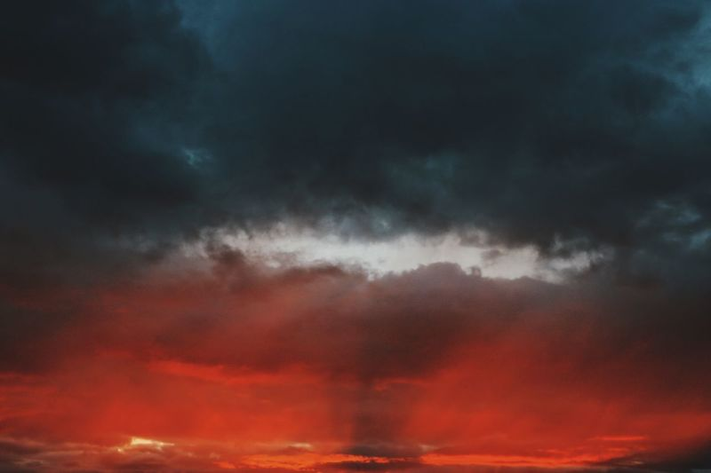 Hole in the sky. Cloud - Sky Sky Dramatic Sky Beauty In Nature Weather Nature Storm Cloud Scenics Cloudscape Atmospheric Mood Orange Color No People Outdoors Sunset Tranquil Scene Tranquility Sky Only Night Red