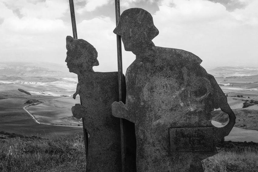 The Way Forward Documentary Photography Facesandplacesofthecamino Alto Del Perdon Navarra SPAIN Jakobsweg Camino De Santiago CaminodeSantiago Caminodesantiagopage Pilgrimage Theway Camino Monochrome Photography