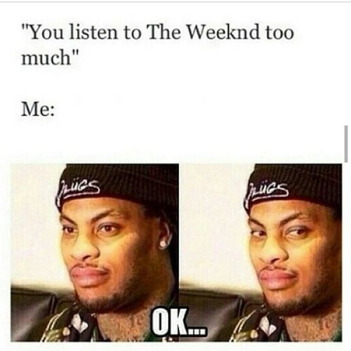 Lmao ! Omg , i laughed a little too hard ! This is the story of my life ! Xo Abel TeamTesfaye Theweeknd XOFans Haters Bye XOTWOD