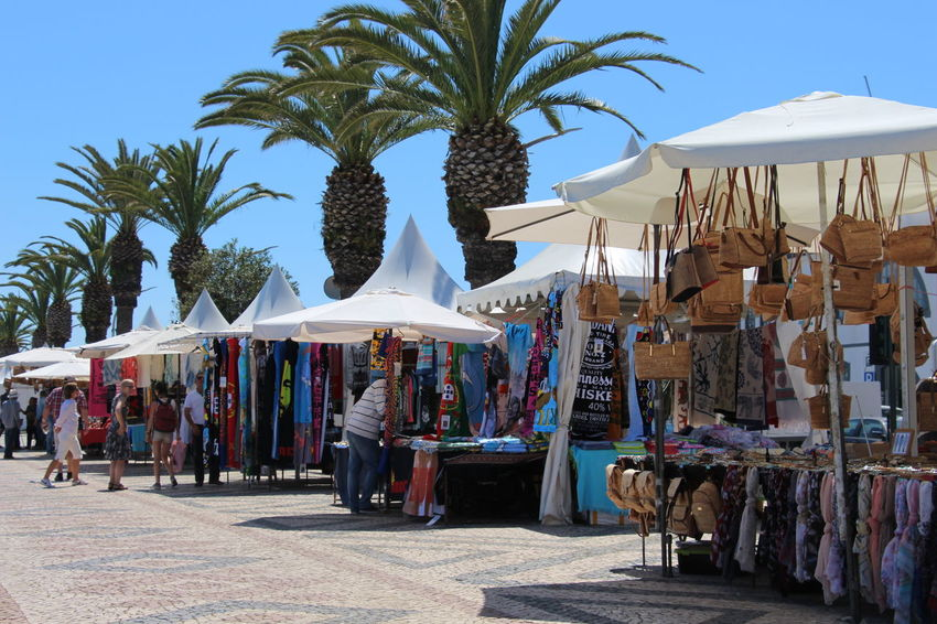 Day Market Outdoors Palm Tree Palm Trees People Retail  Stands