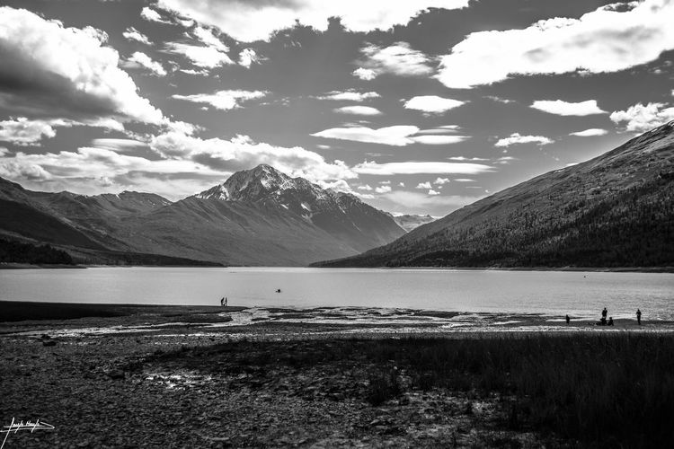 Alaska Nature Beauty In Nature Scenics Mountain Tranquil Scene Tranquility Sky Landscape Water Mountain Range Outdoors Cloud - Sky Day Lake No People Grass
