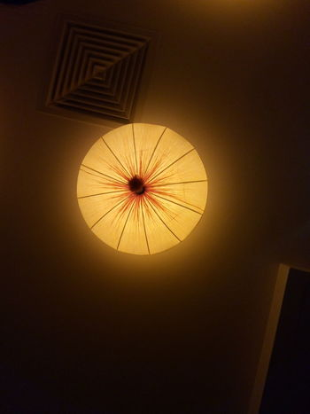 Ceiling Light  Round Shape Mobile Photography Kirin London Dine Out Interior Lights Lighting Equipment Indoors  Low Angle View No People Illuminated Day