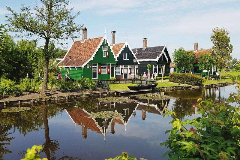 Small houses Green Color Green Green Color Green Houses Piece Warm Sunny Sunny Day Travel Destinations Travelling Travel Photography Water Tree Lake Reflection Symmetry Sky Architecture Building Exterior Built Structure Reflection Lake Standing Water Waterfront Canal Calm Reflecting Pool The Great Outdoors - 2018 EyeEm Awards