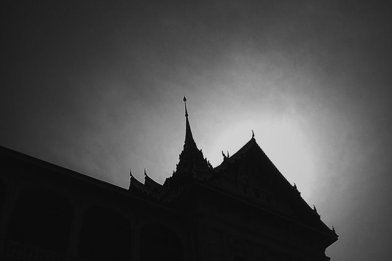 Grand Palace Silhouettes Blackandwhite Blackandwhitephotography