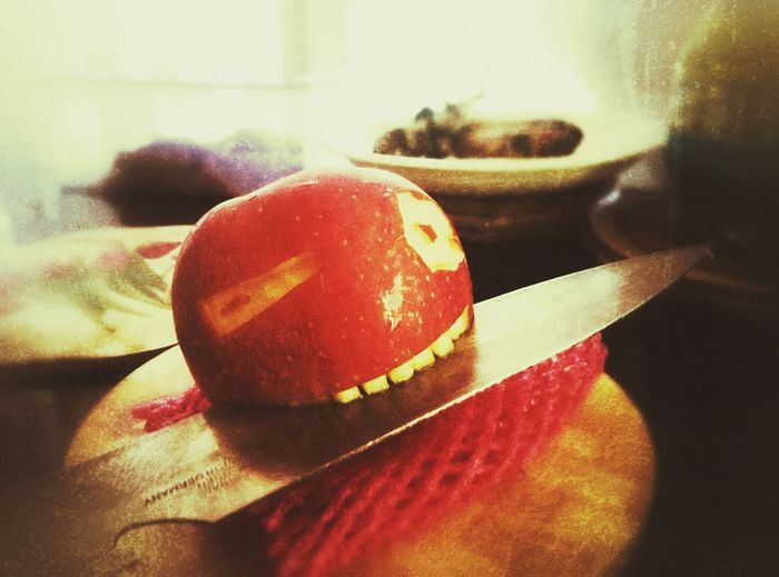 apples are now a part of the family. How You Celebrate Holidays , Ninja Style Applehead Apple