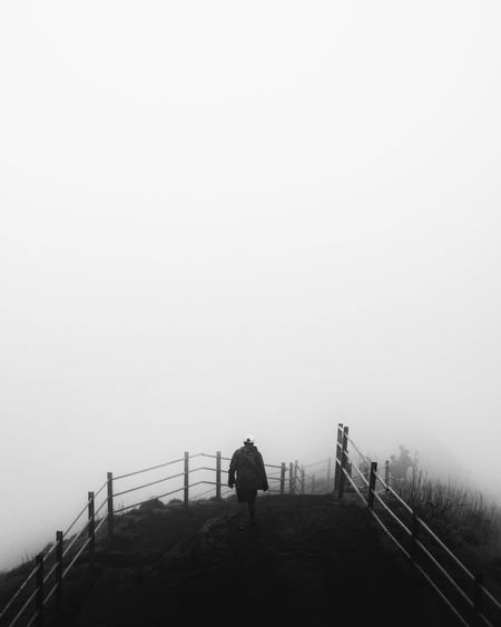 Explore the unexplored Nature_perfection Travel Photography Travelphotography Nature Nature Photography The Street Photographer - 2019 EyeEm Awards Streetlife Street Photography Blackandwhite Blackandwhite Photography Minimalist Minimalobsession Minimalism The Minimalist - 2019 EyeEm Awards Winter Silhouette Standing Fog Railing Men Sky The Minimalist - 2019 EyeEm Awards