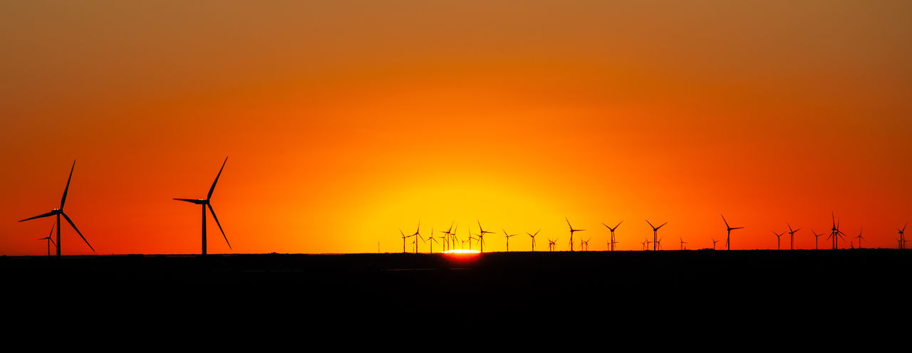 Environment Sunset Environmental Conservation Fuel And Power Generation Wind Turbine Wind Power Renewable Energy Orange Color Turbine Technology Alternative Energy Sky Beauty In Nature Silhouette Wind Nature Landscape Sustainable Resources Scenics - Nature Dusk Electricity  Outdoors No People Power Supply Power In Nature EyeEmNewHere
