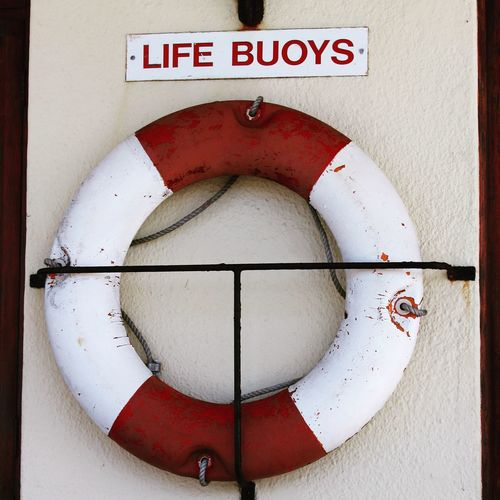 Life Buoy Rettungsring Lifesaver Red And White Robben Island Harbor Nautical Close-up Sea Life Nautical Theme Baywatch Ring Nautical Equipment