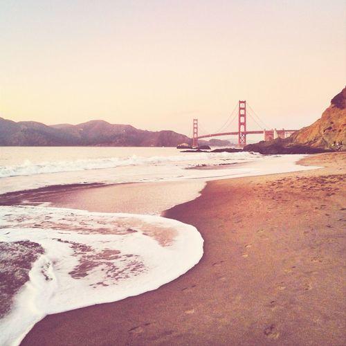 Enjoying the view. Sunset Golden Gate Bridge