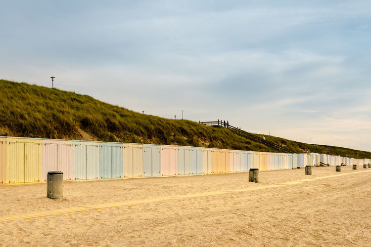 Scenic View Of Beach Lockers