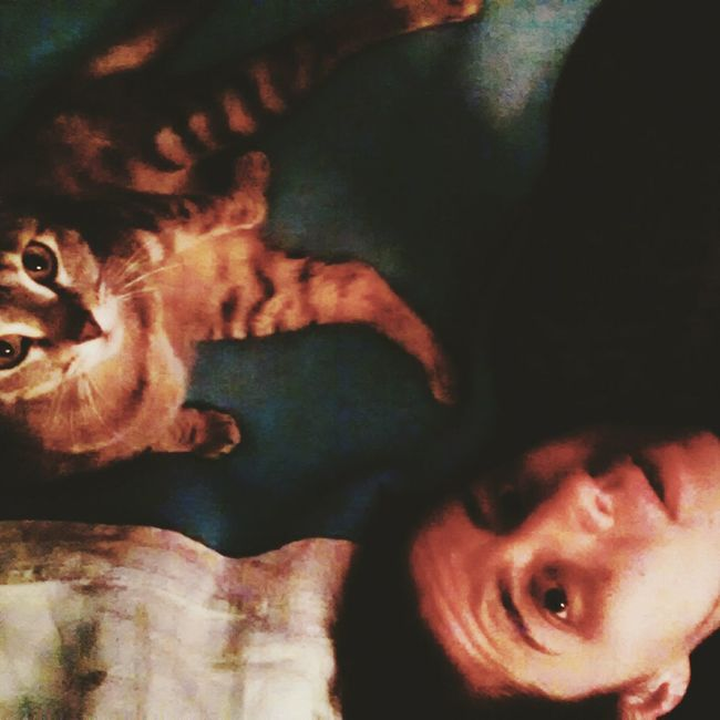 Goodnight Selfie with Tara Cat :)