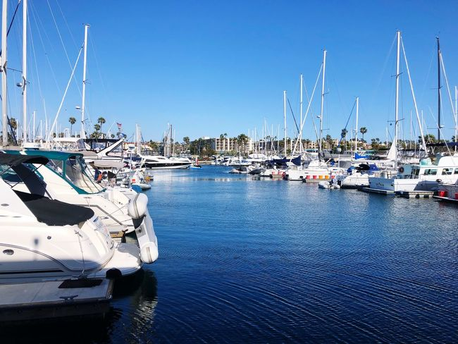 Transportation Water Nautical Vessel Mode Of Transportation Sky Moored Nature Blue Sunlight Waterfront Day Sea Harbor No People Yacht Sailboat Clear Sky Mast Pole Outdoors