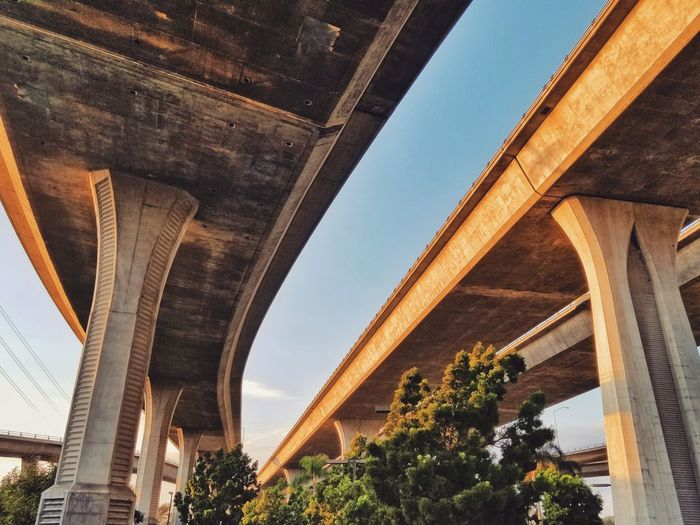 Low Angle View Of Bridge Against Sky