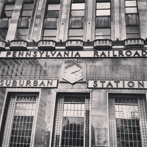 Philadelphia Pennsylvania Railroad Bnwoftheday bnw_power bnwalma bnwphotooftheday bnw_stingray instagramer ig_captures instafamous ig_signage