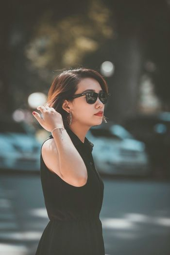 Strong and warm-hearted business woman but a bit alone inside Fashion Women One Person Adult Sunglasses Glasses Beautiful Woman Lifestyles Beauty Portrait Waist Up Clothing City Beautiful People Young Adult Females Luxury