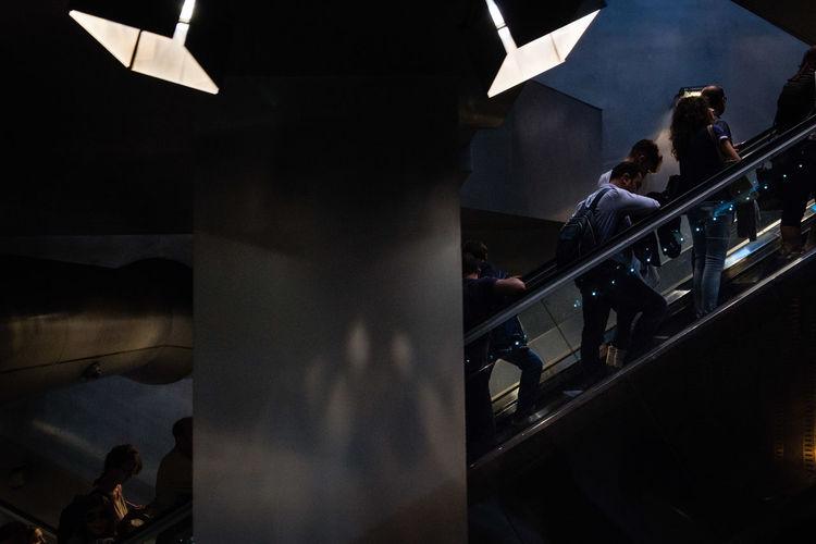 Group of people in the dark room