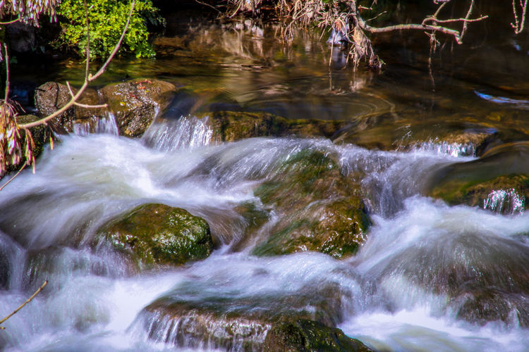 Long Exposure EyeEm Best Shots EyeEm Nature Lover EyeEmBestPics EyeEm Best Shots - Nature Beauty In Nature Wonders Of Nature Water Beauty Waterfall River Forest Reflection Landscape Moss Stream - Flowing Water Rock - Object Lichen Rock Formation Rapid Riverbank