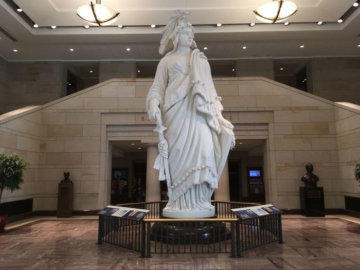 Liberty - US Capitol (04/2018) Freedom Liberty Washington, D. C. US Capitol Building Architecture Sculpture Statue No People Indoors  Art And Craft Marble