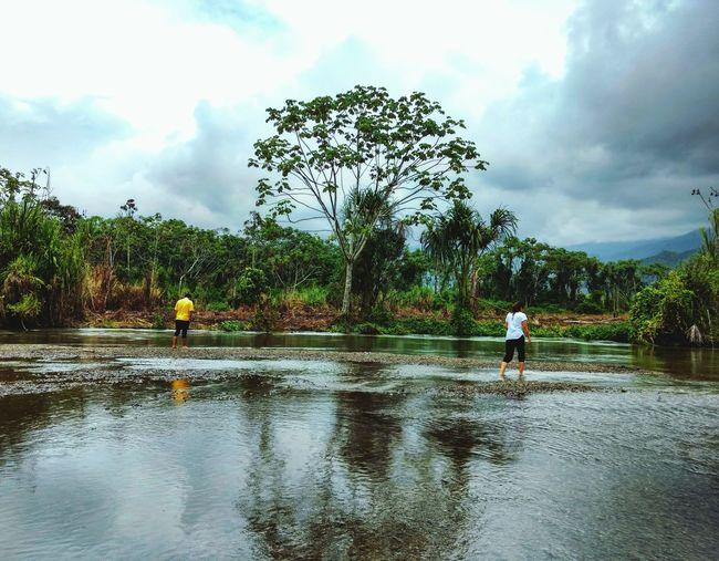 Jungle Peru Sanmartin Real People Tree Two People Water Nature Yacumama First Eyeem Photo