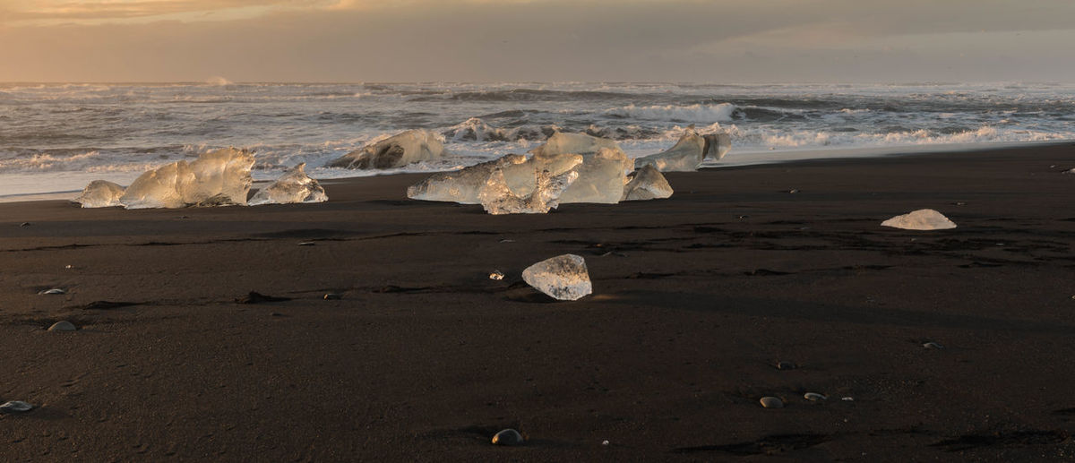 Beach Beauty In Nature Cold Temperature Day Ice Iceberg Landscape Nature No People Outdoors Sand Scenics Sea Sky Tranquility Water Winter