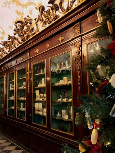 Ancient Christmas Decoration Pharmacy Indoors  Christmas No People Architecture Christmas Decoration Day