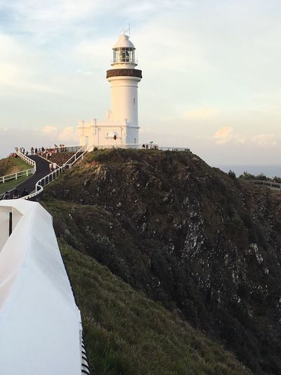 Byron Bay Lighthouse Lighthouse Summer Sea Ocean Byron Bay Byron Bay Lighthouse Built Structure Building Exterior Architecture Tower Guidance Sky Lighthouse Cloud - Sky Outdoors Day Sea Travel Nature Building