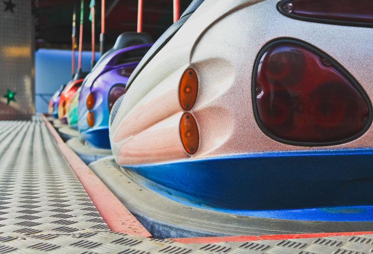 Bumper cars at amusement park