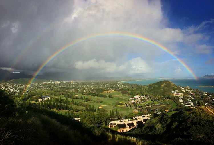Somewhere Over A Rainbow Rainbow Nature Hawaii Kailua  Hiking