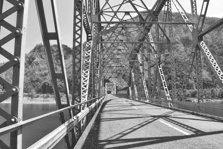 Metal Bridge - Man Made Structure Connection Built Structure Architecture The Way Forward Outdoors Bridge Black And White Monochrome Architecture Photography