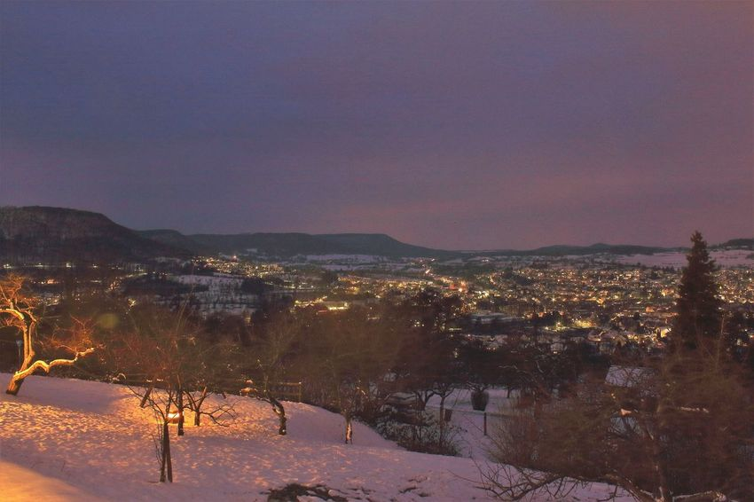 Evening Light View Beauty In Nature Cold Temperature Day Evening Evening Sky Landscape Mountain Nature No People Outdoors Scenics Schwäbische Alb Sky Snow Tranquil Scene Tranquility Tree Winter