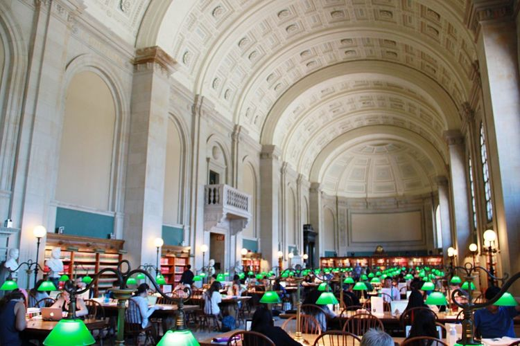 Library Books Studying @ Boston Public Library