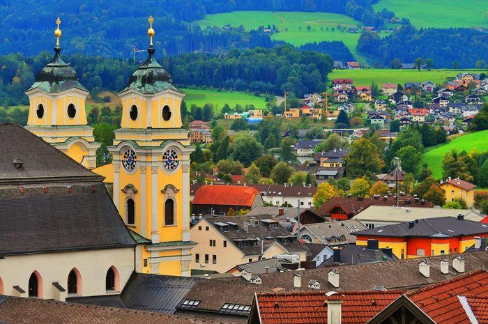 Mountain View Landscape_photography Historical Building Housetop Roof Mondsee Urban Landscape Nature Austria