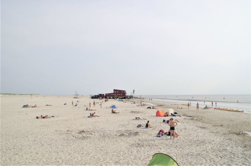St. Peter Ording Strandkorb Beach Crowd Crowded Day Group Of People Holiday Horizon Horizon Over Water Land Large Group Of People Leisure Activity Lifestyles Men Nature Outdoors Real People Sand Sea Sky Trip Vacations Water Women
