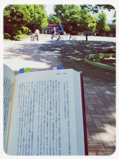 Walking Around Childsplay Enjoying The Sun Reading 天気がよく、木漏れ日の下での読書がとても気持ちいい。