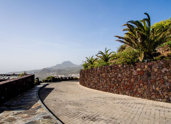 Observation deck. Arona, Tenerife. Canary Islands. Spain Canary Islands Footpath Observation Observation Point Pedestrian Walkway SPAIN Touristic Travel Day Europe Nature No People Nobody Observation Deck Outdoors Palm Tree Pathway Pedestrian Sky Tenerife Tenerife Island Terraced Field Tourist Resort Tropical Climate Tropical Plants