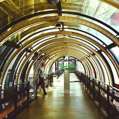 Indoors  Built Structure One Person France 🇫🇷 Pompidou Center Paris Museum Of Modern Art