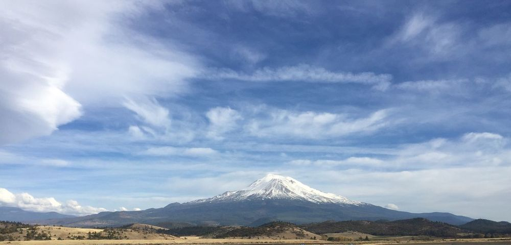 Mount Shasta Mountain Sky Beauty In Nature Cloud - Sky Nature Scenics Mountain Range Landscape Day Tranquility Outdoors Travel Destinations Tranquil Scene Snow No People