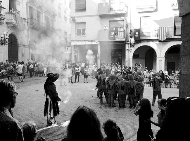 Day 363 - Los diablos 👿 Valls SPAIN Saint Joan Blackandwhite Monochrome Photography Streetphotography Streetphoto_bw 365project 365florianmski Day363