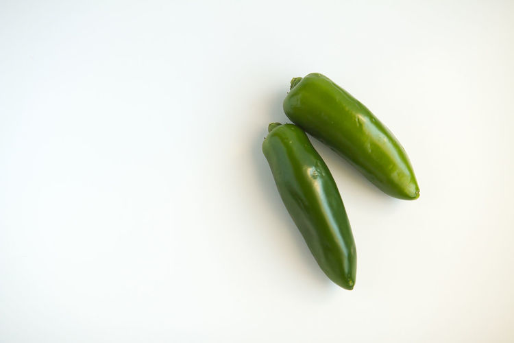 Close-up Cut Out Food Freshness Green Green Color Green Pea Healthy Eating Jalapeno Jalapeños No People Organic Selective Focus Still Life Studio Shot White Background