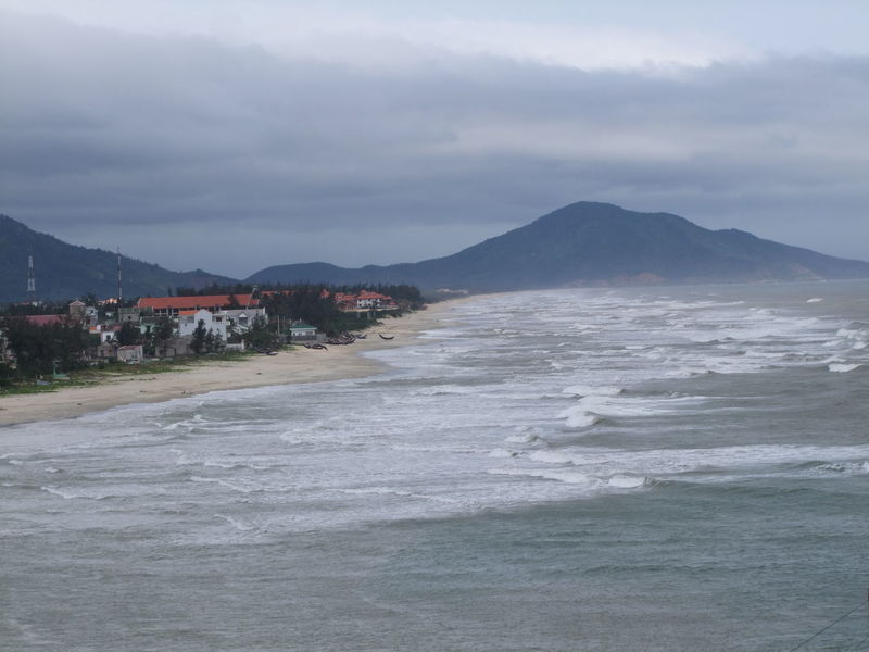 Lang Co Fishing Village Beach Beauty In Nature Cloudy Composition Fishing Village Lăng Cô Mountain Mountain Range Nature No People Outdoor Photography Sand Scenics Sea Shore Tourist Attraction  Tranquil Scene Tranquility Vietnam Village Water Waves