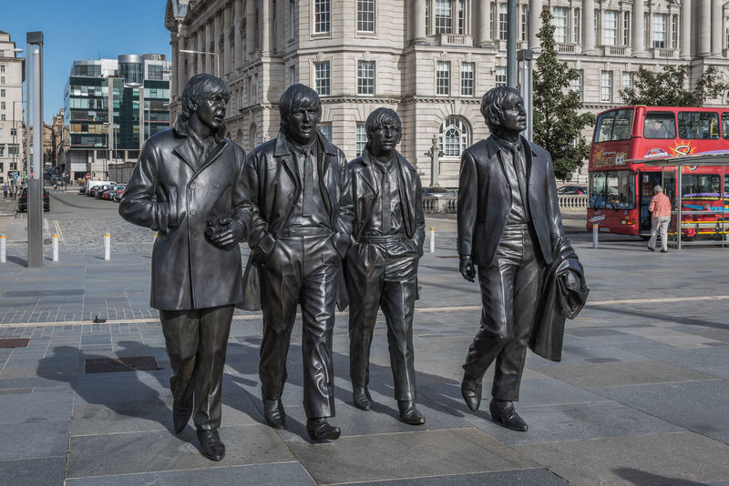 Beatlemania Beatles City England Fab Four Famous People Harrison Lennon Liverpool McCartney Monument Musician Outdoors Sculpture Starr Statue Street The Beatles Travel Travel Destinations