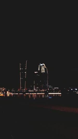Putrajaya , Kuala Lumpur. Cityscapes Night View Tall Buildings Tourist Attraction  Taking Photos