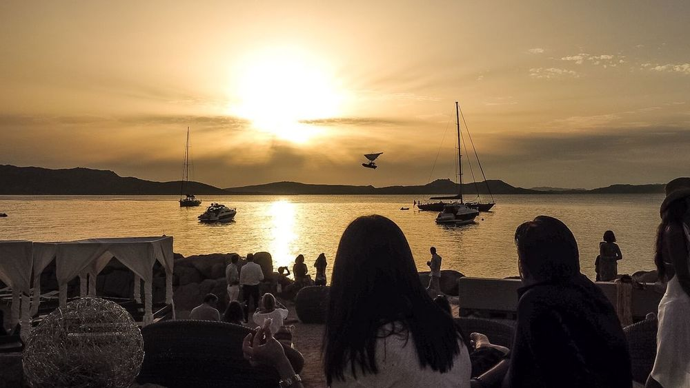 Sunset Cinema Enjoying Life Hanging Out Relaxing Phi Beach Beachclub Beach Life Chilling Romance Baia Sardinia Sardegna Italy Dolce Far Niente Golden Hour Endless Summer Costa Smeralda Seascape Gowiththeflow By The Ocean Lifestyle Sunset Relaxing Skyporn Sky Leisure Activity