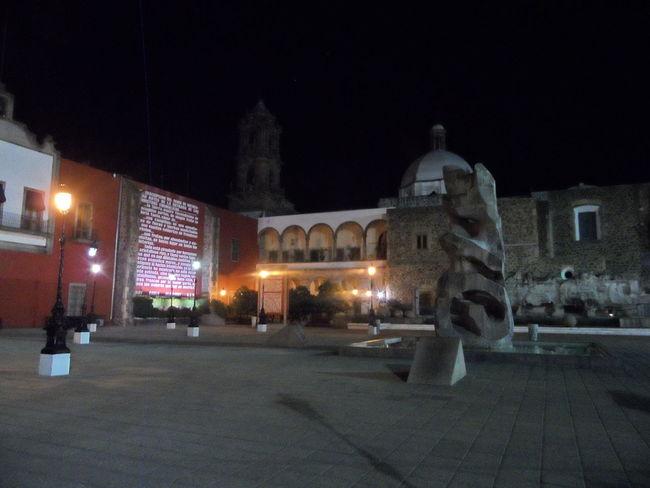 Irapuato Plaza De Los Fundadores Fuente Luces Nocturna