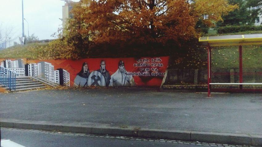 Głogów Polishcity City Urbancity Urbanlife Road Tree Outdoors Graffiti Graffiti Art Poland Polandisbeautiful Welcomeinpoland Busstop Happiness ♡ Wonderland Wonderlife Justbehappy 🌆🚌🌎☔