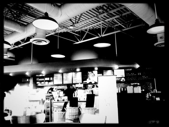 Blackandwhite Drinking A Latte Droidography